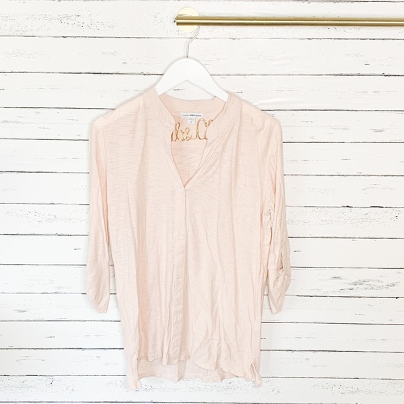 James Perse Tops - Standard James Perse Blush Jersey Button Front Tee